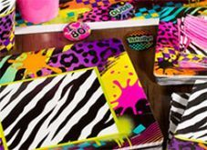 80's Party Theme - The 80's were a great time, New Romantics, neon clothes and mad hair and make up, we stood out!  We want to bring this back with our 80's inspired partyware.  Put on your favourite 80's band and enjoy your party!