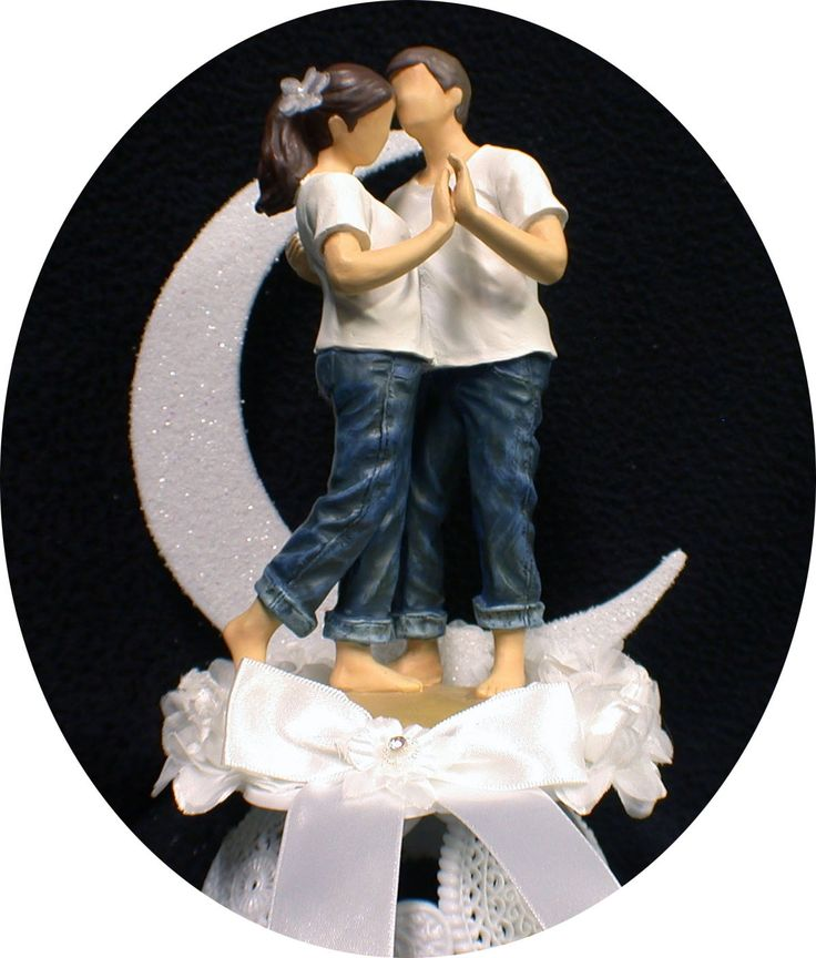 This gives me ideas....... FOREVER in Blue JEANS Wedding Cake topper Outdoor. $49.00, via Etsy.