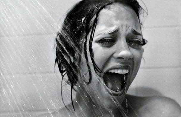Marion Cotillard by Mark Seliger recreating Psycho, The Hitchcock Hollywood Portfolio   Vanity Fair