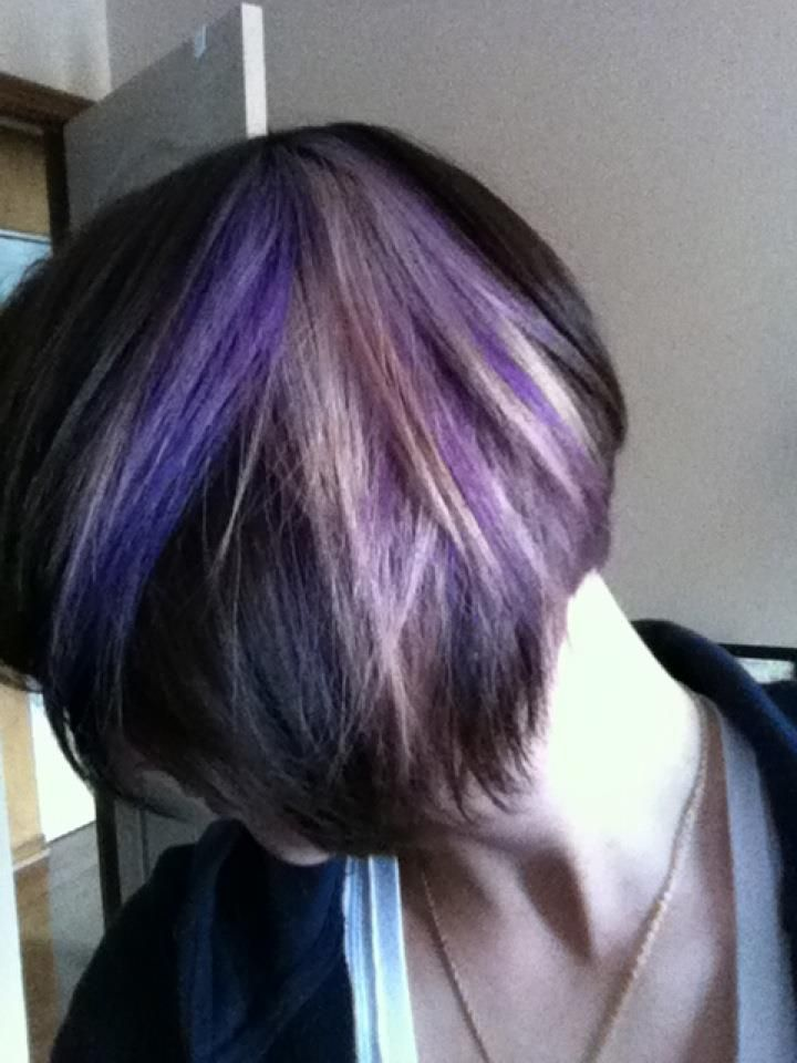 Peek A Boo Color Highlights | decided to make a small change to my hair my good friend jenn who is a ...