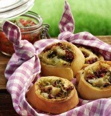 Rezept aus der Tante Fanny Kochwerkstatt: Pizzaschnecken