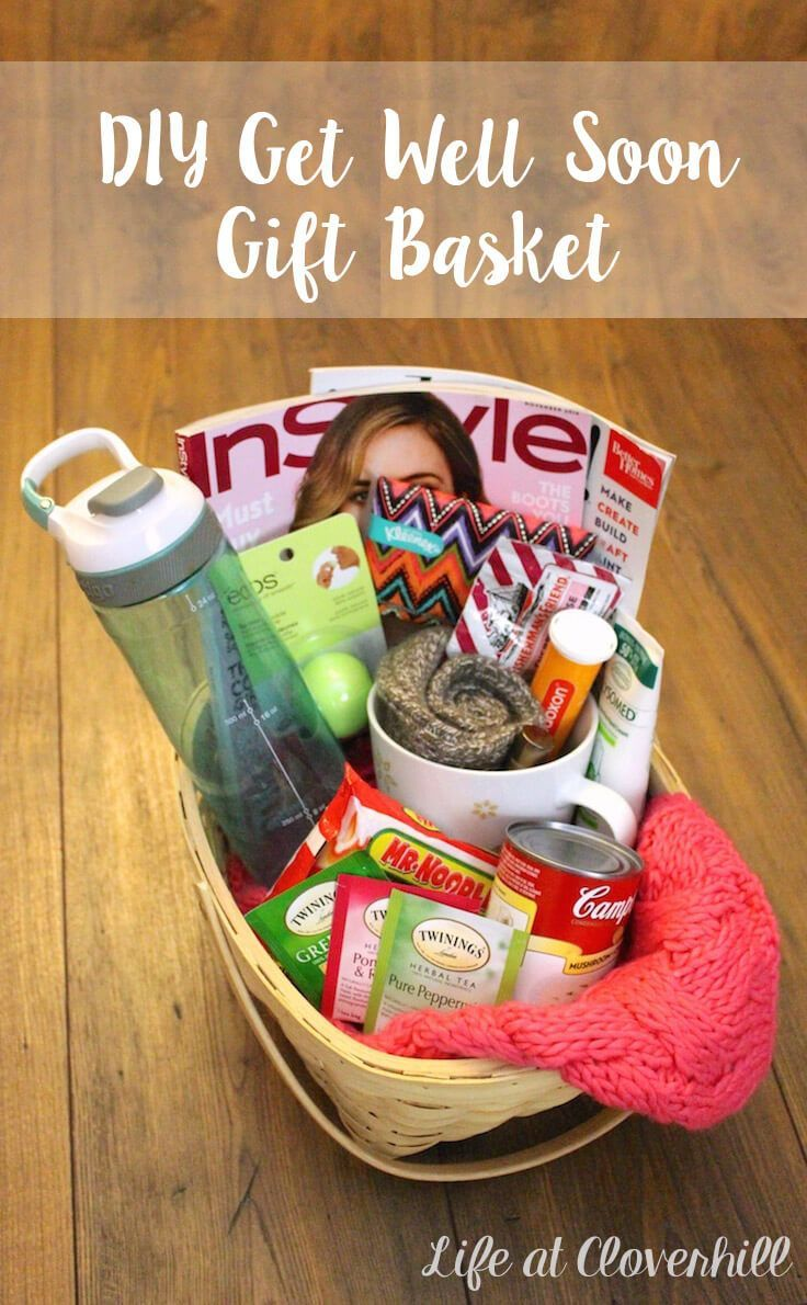 Putting together a DIY Get Well Soon Gift Basket is an easy way to show someone you're thinking of them when they're sick.