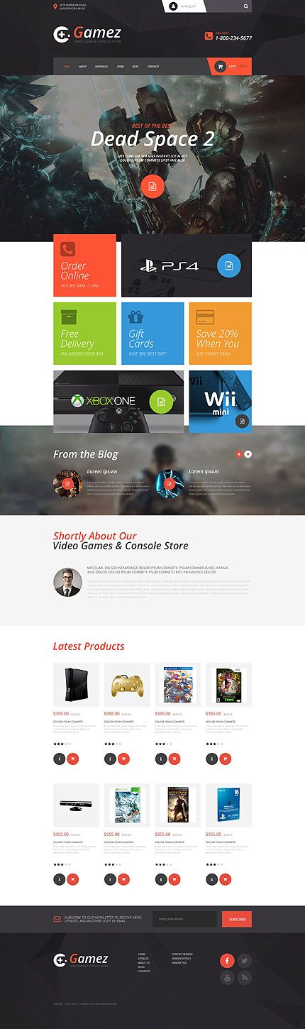 Games • Most Popular • Espresso Web Inspiration at your Coffee Break! VirtueMart • Template