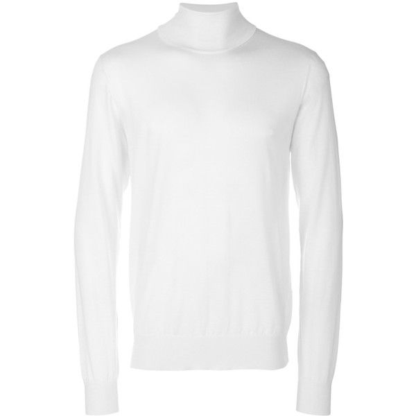 Dolce & Gabbana turtleneck sweater (3.205 BRL) ❤ liked on Polyvore featuring men's fashion, men's clothing, men's sweaters, white, mens cashmere turtleneck sweaters, mens white turtleneck sweater, mens slim fit sweaters, mens white cashmere sweater and mens slim fit cashmere sweaters