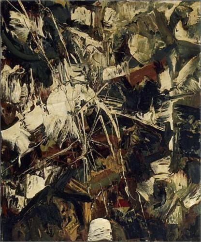"""Untitled"" - Jean-Paul Riopelle, #art #abstract. Follow the biggest painting board on Pinterest: www.pinterest.com/atelierbeauvoir"