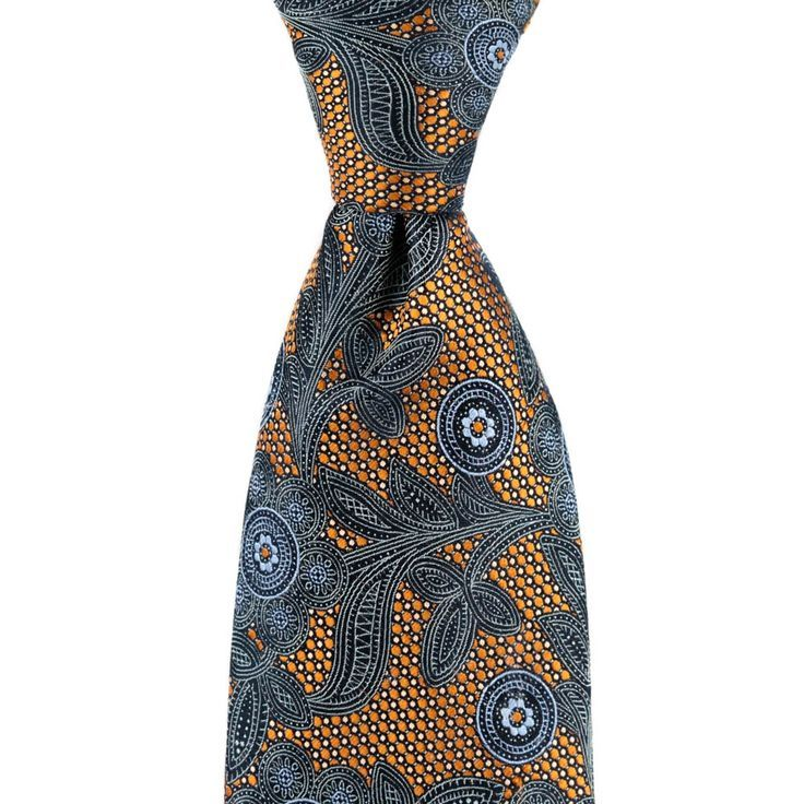 ERMENEGILDO ZEGNA Italy Orange Blue Floral Woven 100% Silk Neck Tie  |  Go shopping!  www.frieschskys.c...   |   #instastyle   #mensfashion   #mensstyle   #menswear   #dapper   #stylish   #MadeInItaly   #Italy   #couture   #highfashion