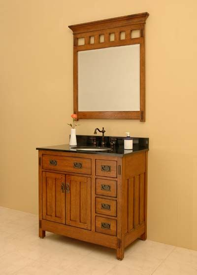 Craftsman Style Bathroom | Craftsman Vanities, Sagehill Designs American Craftsman Bathroom ...