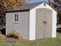 Lifetime Sheds: Beautiful outdoor, lots of storage space. http://www.shedtownusa.com/lifetime-vinyl-sheds-c-42.html