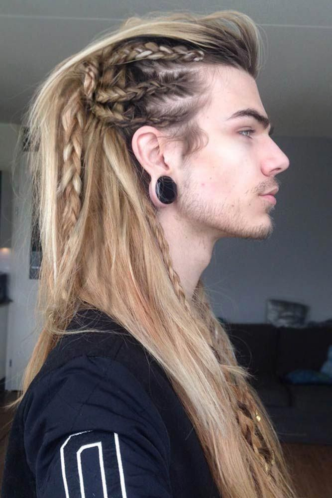 Faux Hawk For Long Hair Fauxhawk Longhairmen Vikinghairstyles Vikinghair Want To Pull Off One Of Those Masculi Viking Hair Hair Styles Long Hair Styles