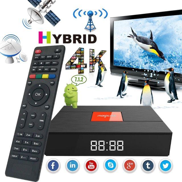 Magicsee C400 Plus Dvb S2 Dvb T2 Satellite Tv Decoder Amlogic S912 Octa Core Smart Tv Box 3g 32g Android 7 1 4k Media Player Revie Satellite Tv Smart Tv Dvb T2