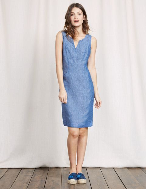 A wardrobe staple if ever there was one, this lightweight dress will take you effortlessly from beach to bar. It's made from 100% linen, so you'll keep cool as the temperature rises. The best bit? Its semi-fitted shape (with front pockets) is designed to be ultra flattering and skim your curves.