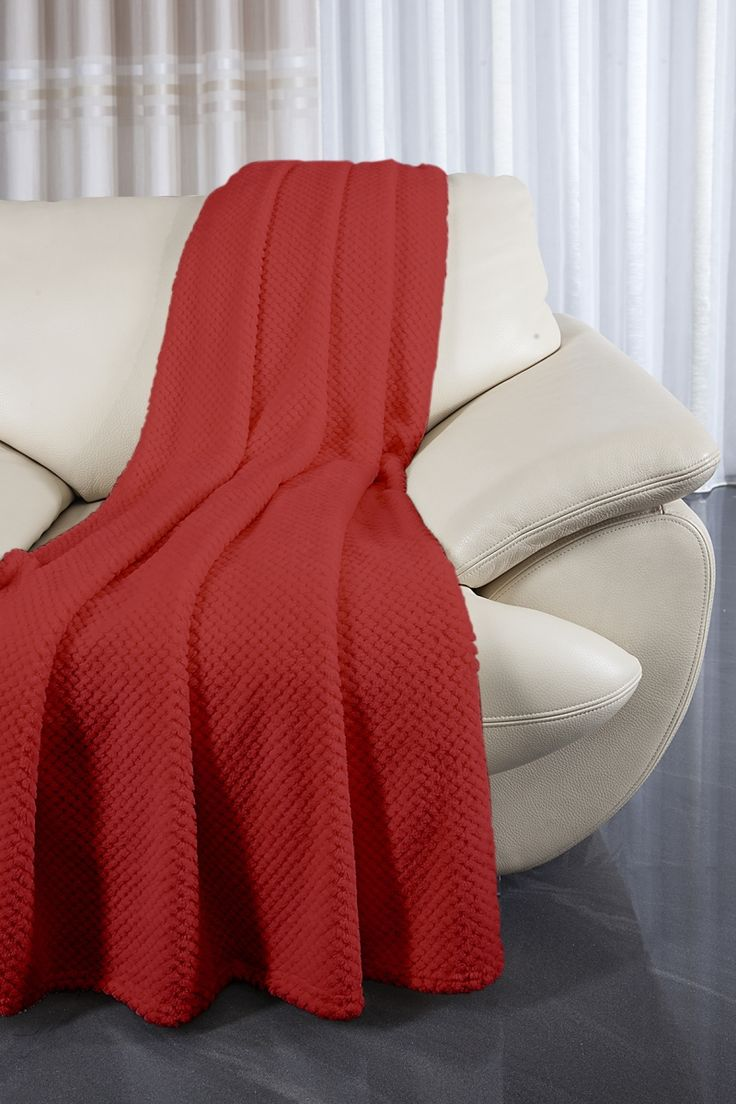 Červené gaučové přehozy