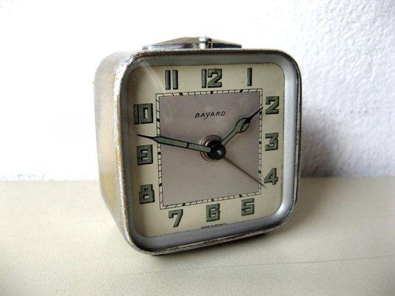 Vintage Travel Alarm Clock - Bayard - Made in France
