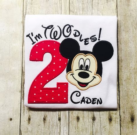 Mickey Mouse Second Birthday Shirt - Twodles - Oh Twodles