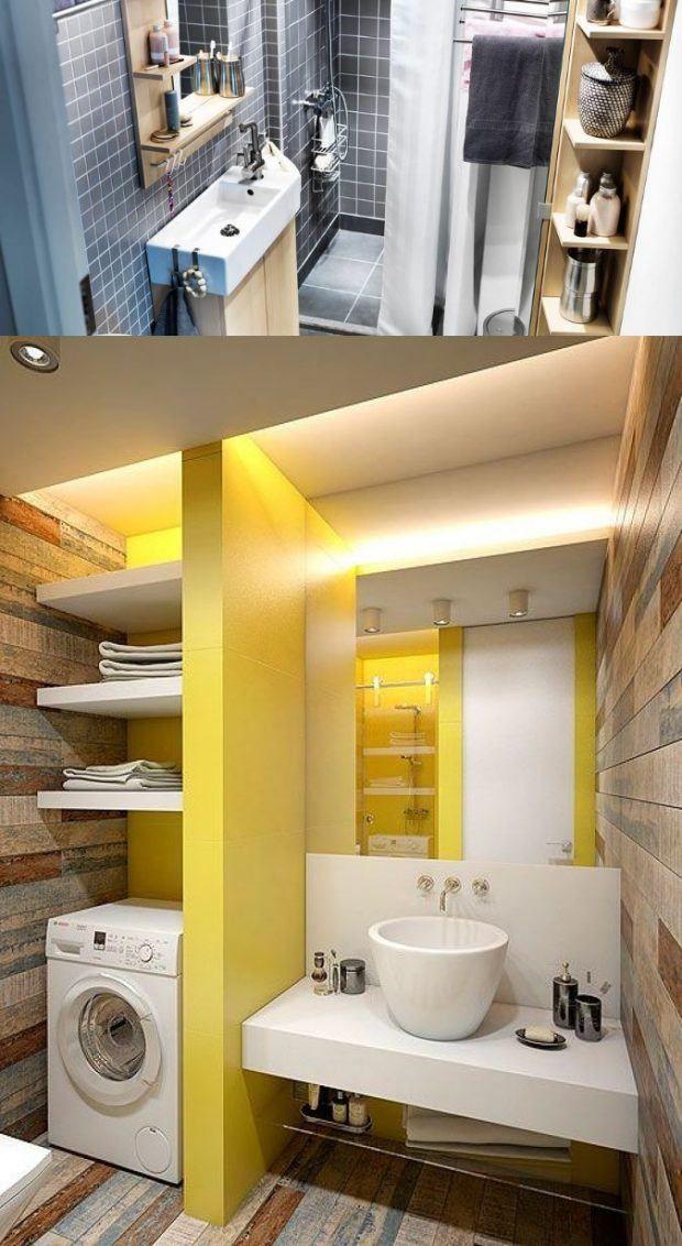 Lavadora En Un Baño Pequeno Es Posible:bastidores de secado gabinetes de cuarto de lavado almacenamiento de