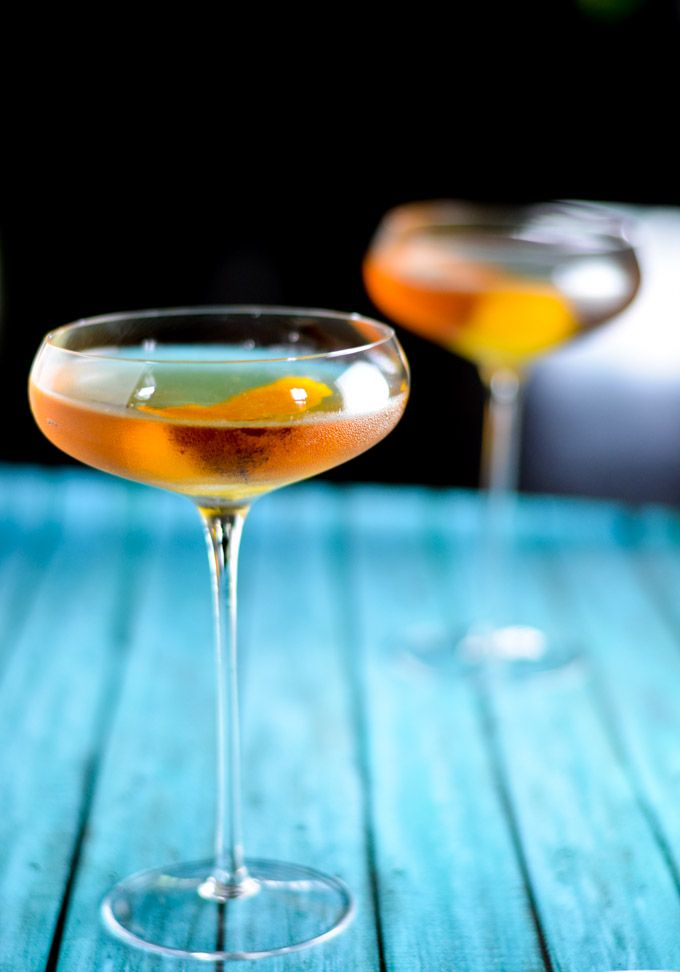 Schiller Negroni - Gin, Lillet Blanc and Red Vermouth - another great one from @lexi_bites