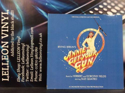 Irving Berlin's Annie Get Your Gun F/t Suzi Quatro LP Vinyl CAST4 Theatre 80's Music:Records:Albums/ LPs:Soundtracks/ Themes:Musicals
