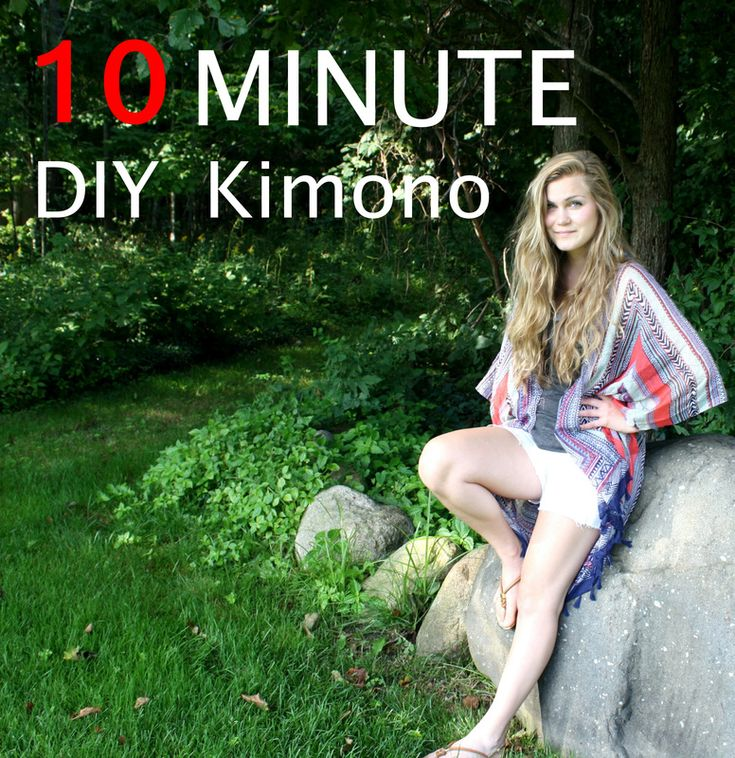 DIY Kimono using old scarves! I have so many old scarves I need to make use of. 10 minutes and so simple!