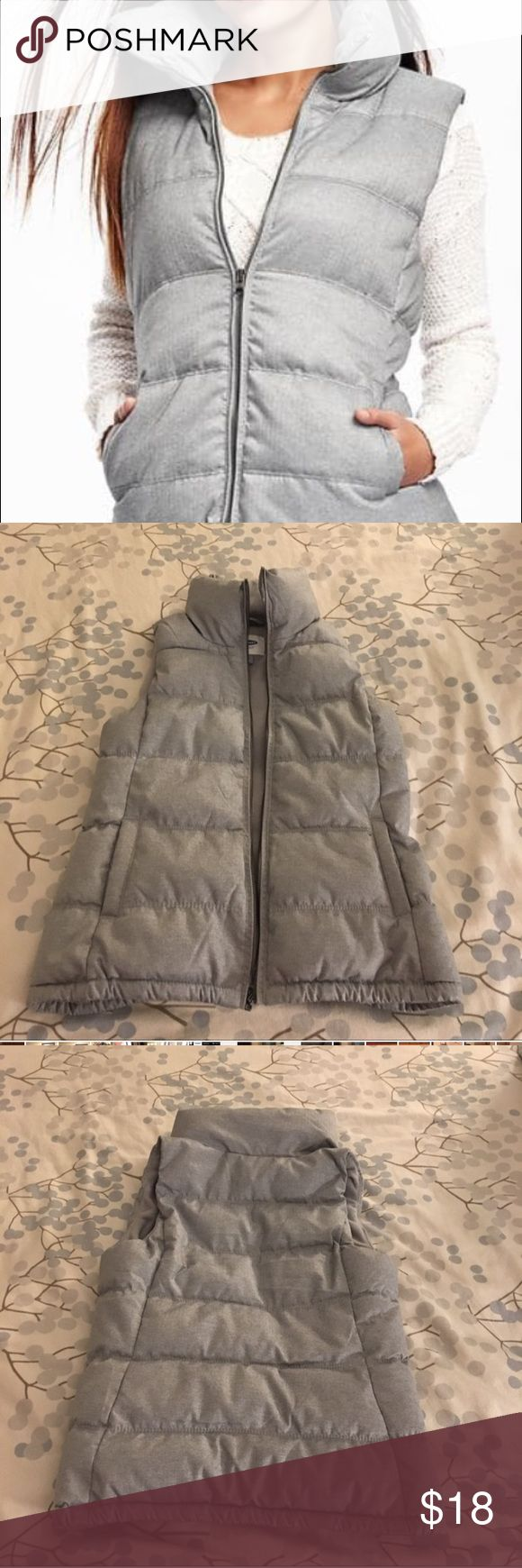 Old Navy women's vest New without tags women's old Navy vest.. cool textured grey vest size Large Old Navy Jackets & Coats Vests