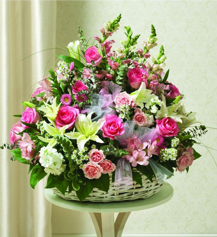 Flower Basket Arrangement Ideas : Best images about funeral flowers on