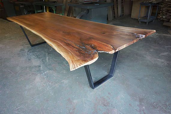 Live Edge Black Walnut Table Badger State Live Edge Table