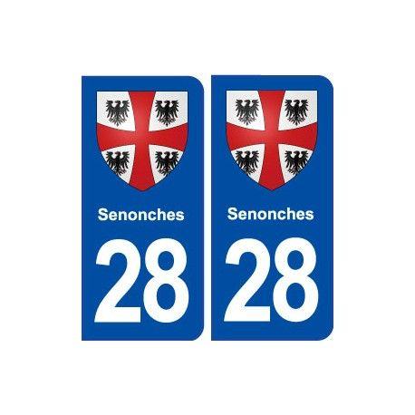 28 Senonches blason autocollant plaque stickers ville