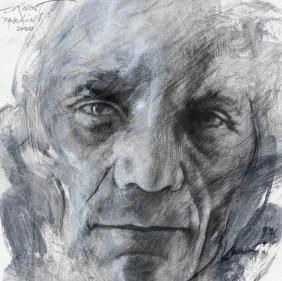 Ernest Pignon Ernest - Art Urbain - Portrait Pasolini