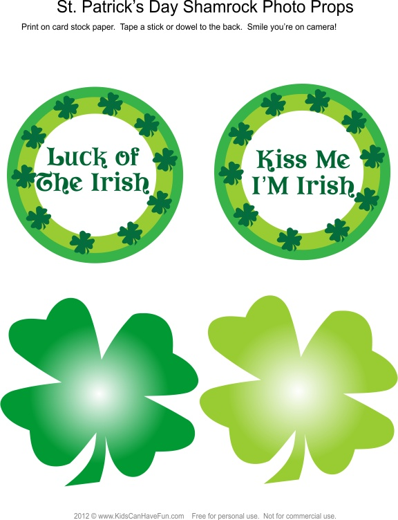 St. Patrick's Day Shamrock Photo Booth Props #photobooth #props #stpatricksday