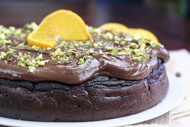 Orange Chocolate Flourless Cake (The Healthy Foodie)