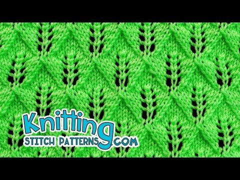 Fern or Leaf-Patterned Lace | Lace Knitting #24