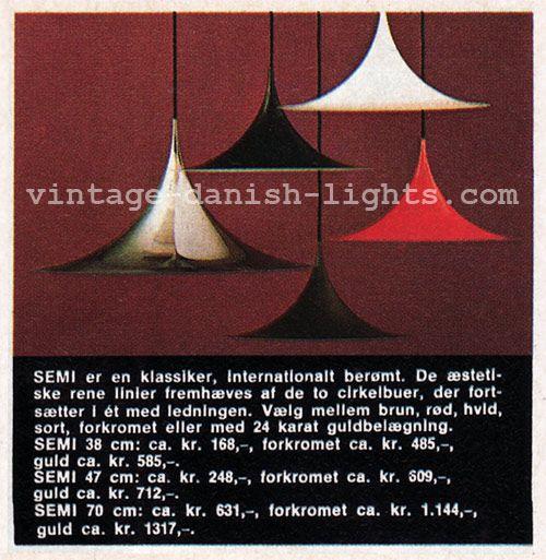 The price of a gold-plated Fog & Mørup Semi | Vintage danish lights blog