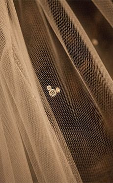 A hidden Mickey in your veil is a subtle way to show your Disney side on your wedding day