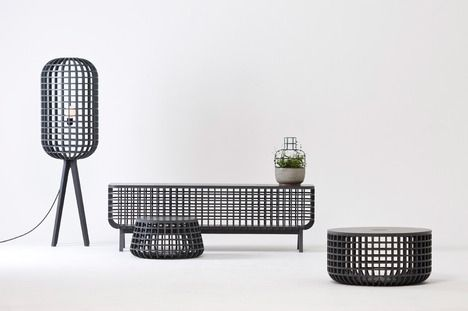 From Seung-yong Song, a furniture and lighting collection with basket forms.