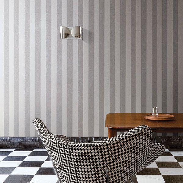 Silver, grey stripe. Escala Collection by Galerie - ES18032R