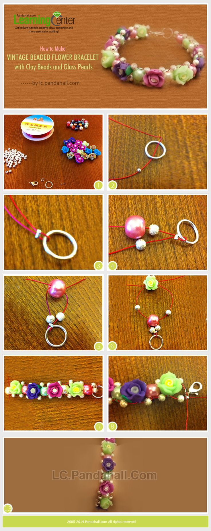 Agree vintage glass flower beads your