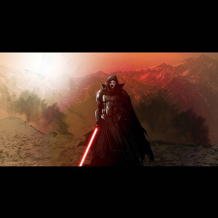 Darth Bane on Moraband. This is the latest in the Star Wars landscape series I've been doing. #darthbane #moraband #livioramondelli #starwars #rebels #sith