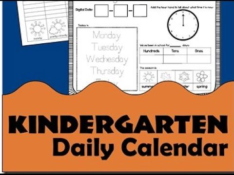 Kids Will Have Fun Learning With These Free Printable Kindergarten Daily  Calendar Notebook Pages: Month, Day Of The Week, Counting To Place Value,  Telli.