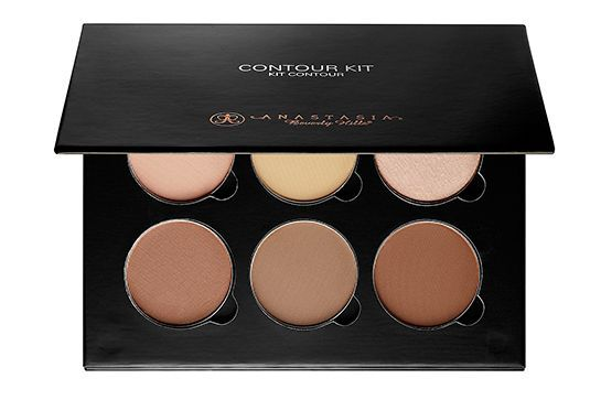 "Anastasia Beverly Hills Contour KitLike her sisters, Kylie is known for her chiseled cheekbones — courtesy of the magical effects of contouring. According to brand founder Anastasia Soare, Ky uses this sculpting palette daily to achieve her signature look. ""She uses Fawn and Havana to contour, and Banana and Vanilla to highlight,"" Soare told us. #refinery29 http://www.refinery29.com/2015/05/87418/kylie-jenner-favorite-beauty-products#slide-3"