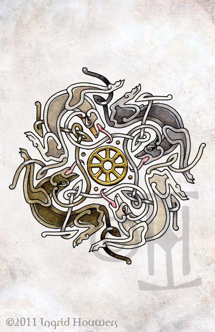 Wolves Wheel by Illahie.deviantart.com on @deviantART