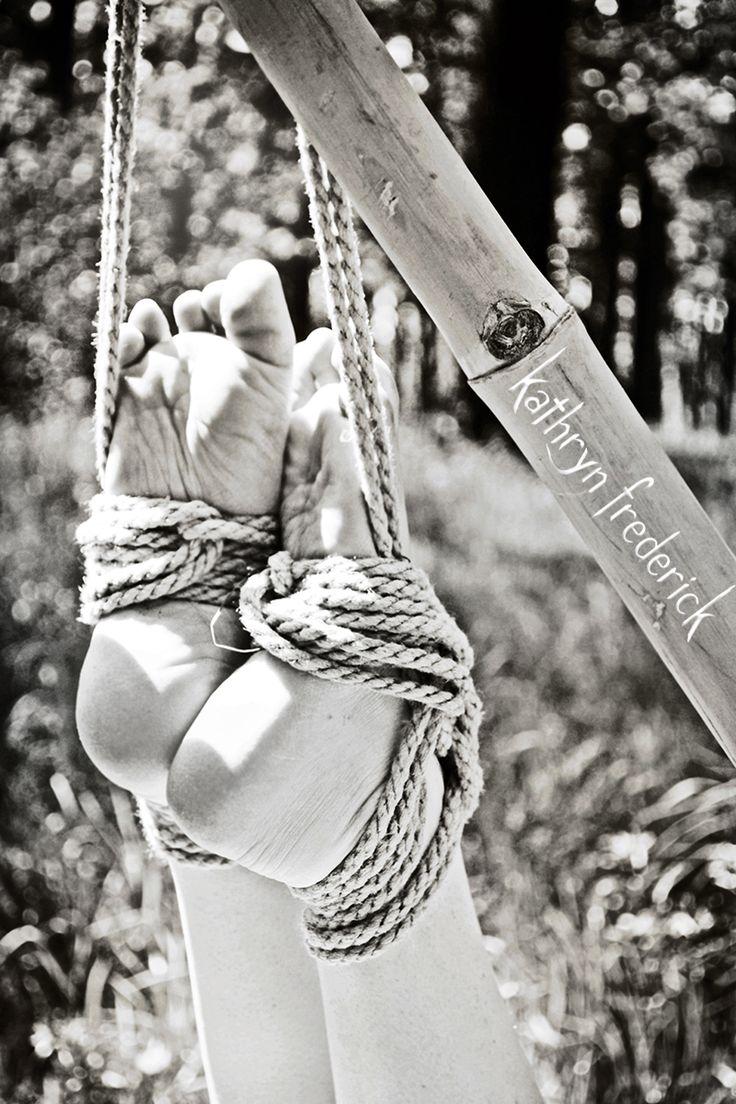 Rope suspension bondage harness