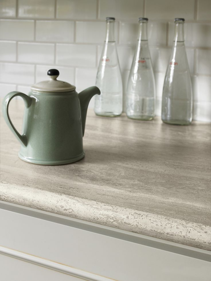 Formica® Travertine Silver #Kitchen #Countertop   A more affordable product than stone, looks amazing