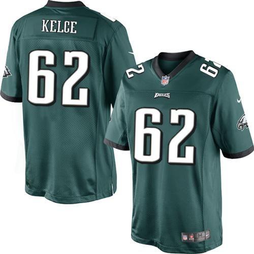Nike NFL Philadelphia Eagles #62 Jason Kelce Limited Midnight Green Team Color Jersey Sale