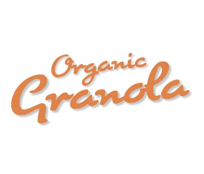 Organic Granola typography using Cuisine font