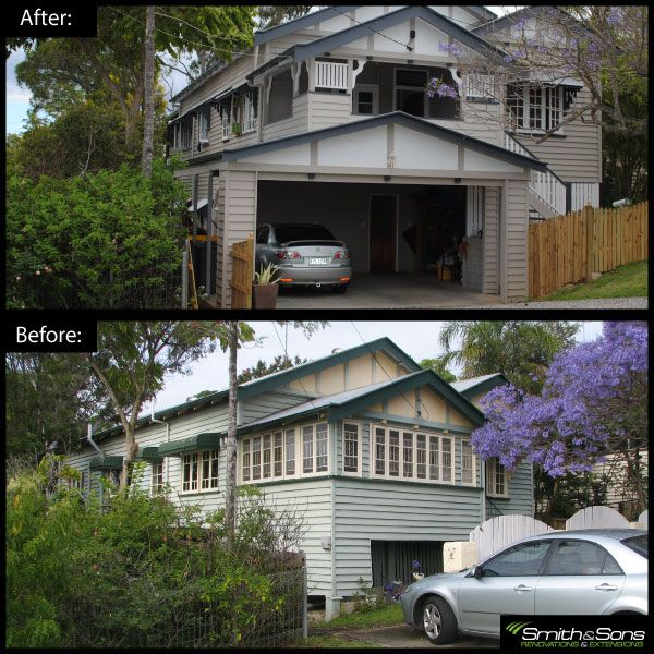 Complete exterior renovation of an old queenslander renovation inspiration remodel Exterior home renovations calgary