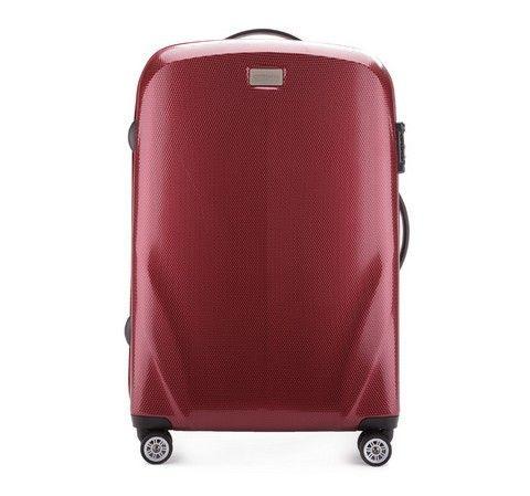 Ultra-lett, medium-stor koffert. Kvalitet, moderne design, TSA kombinasjonslås, tre-trinns teleskop-håndtak og 8 hjul.  Kofferten er laget av svært slitesterk plast – Polykarbonat – og er dekket med et spesielt belegg for å øke motstanden mot riper. To fleksible gummigrep – ett på toppen og ett på siden.  Kofferten inneholder to store rom. Kofferten lukkes med en solid glidelås og låses med din personlige kombinasjonslås. Rommene - i hvert sitt lokk - sikres med sikkerhetsremmer og glidelås…