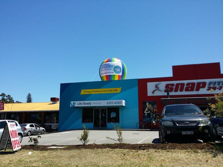 Ready Life Physio, 6m Rainbow Balloon. Set up in Bayswater