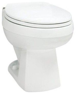 Marathon Enhanced Height Elongated Toilet Bowl Only, White contemporary-bidet-and-toilet-parts