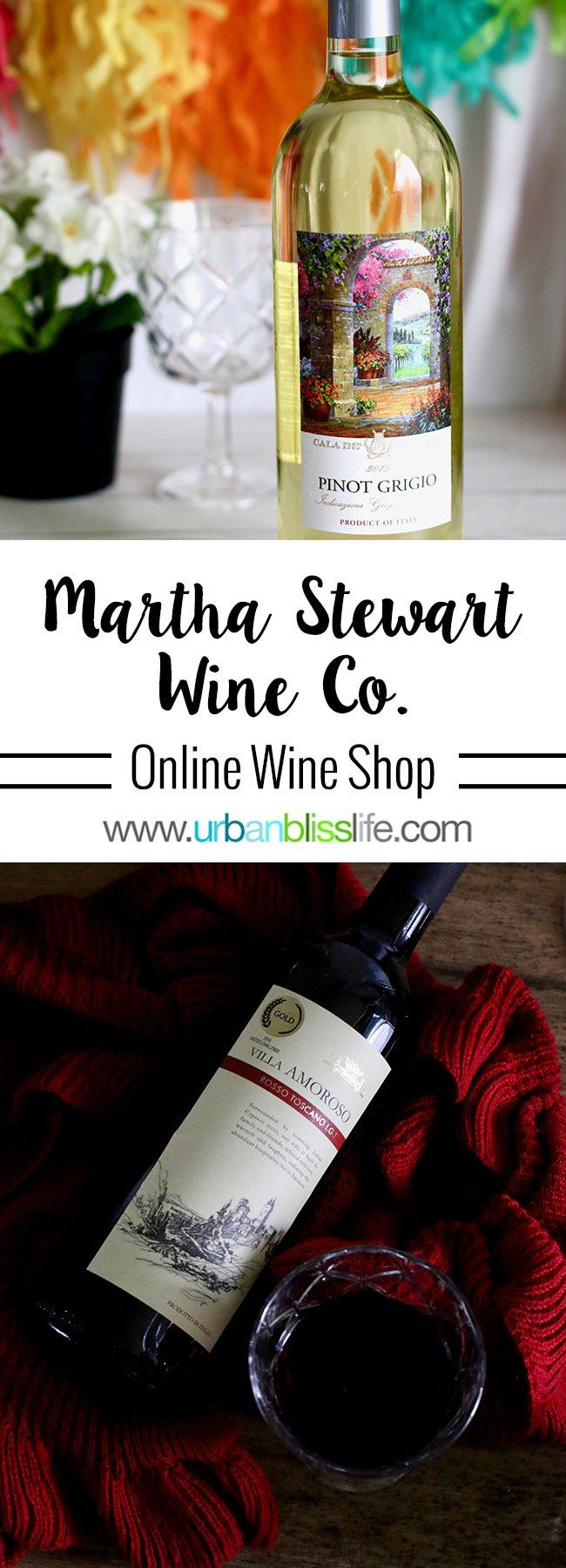 Martha Stewart Wine Co. offers affordable, high quality wines sold individually, in gift packs, and via wine club. Wine review on UrbanBlissLife.com. #wine #wineshop #winewednesday #wineblog #wineblogger #redwine #whitewine #winesoftheworld