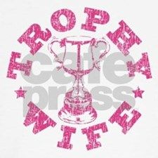 """Trophy Wife"" in pink : Peace Wings T-shirts store : Funny T-shirts"