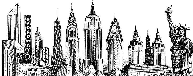 Line Drawing New York Skyline : New york city skyline sketch email this share